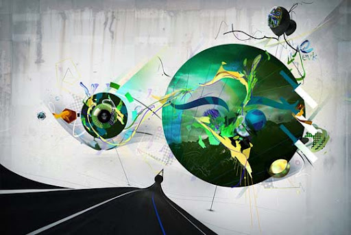 Highway of life by viremaster 60 Magnificent Digital Abstract Art Examples