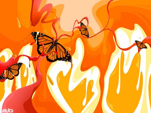 Butterflies by dragonsyth1 60 Magnificent Digital Abstract Art Examples