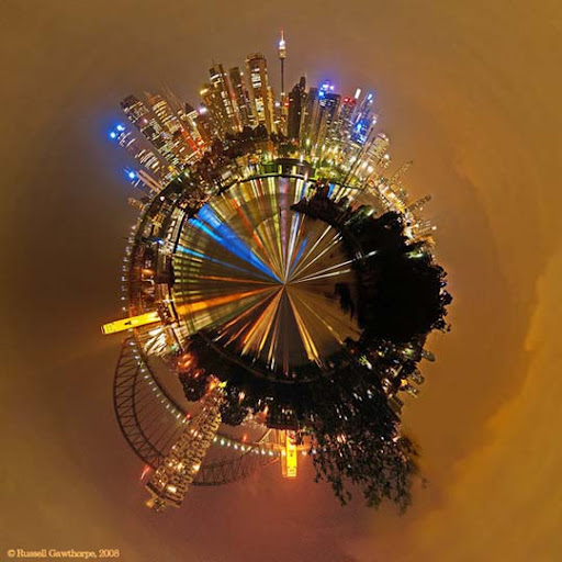Sydney Polar Panorama by datazoid Mesmerising Planet Panoramic Photography