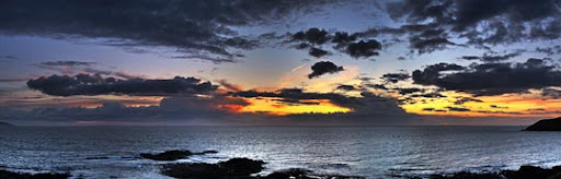 Church Bay Sunset   Panorama by KevLewis Stunning Horizontal Panoramic Shots | Photography Inspiration