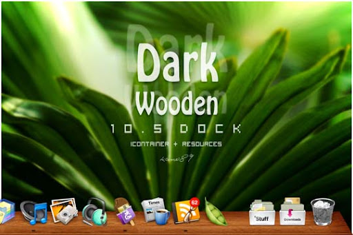 Dark Wooden Dock by kano89 30+ Fresh Dock Icons For Mac Customization