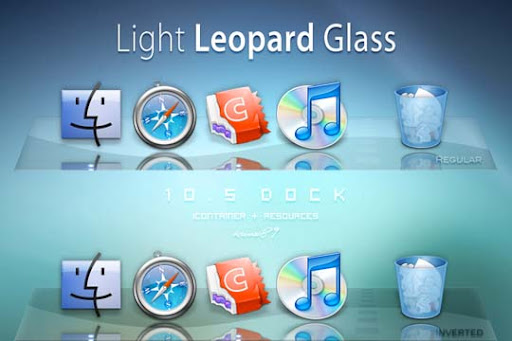 Light Leopard Glass Dock by kano89 30+ Fresh Dock Icons For Mac Customization