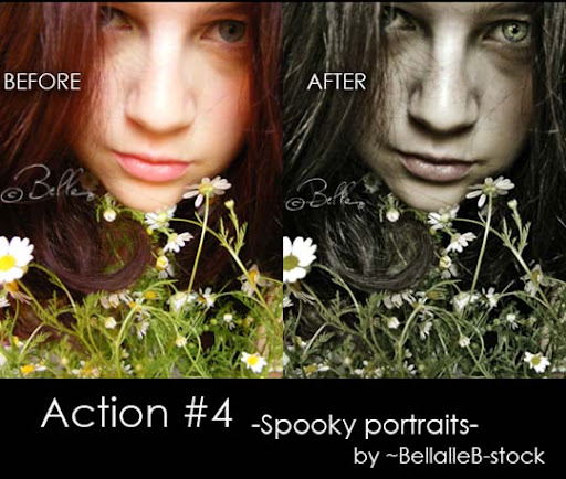 Action no 4 spooky portraits by bellalleb stock The Ultimate Collection Of 500+ Useful Free Photoshop Actions