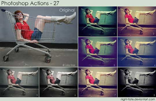 photoshop actions   27 by night fate The Ultimate Collection Of 500+ Useful Free Photoshop Actions