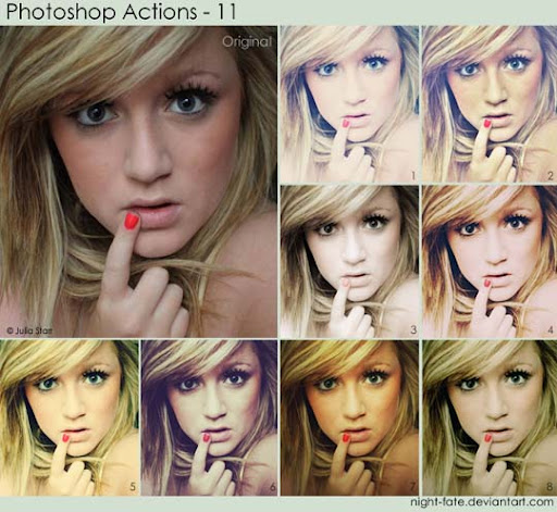 photoshop actions   11 by night fate The Ultimate Collection Of 500+ Useful Free Photoshop Actions