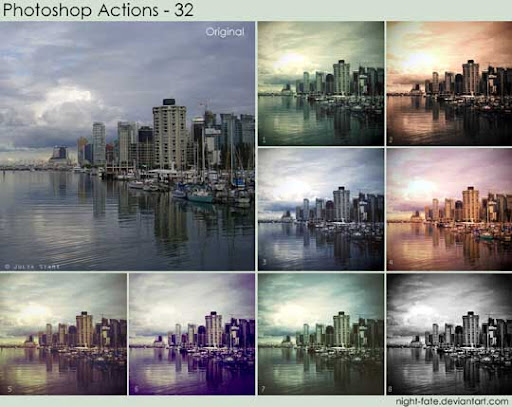 photoshop actions   32 by night fate The Ultimate Collection Of 500+ Useful Free Photoshop Actions