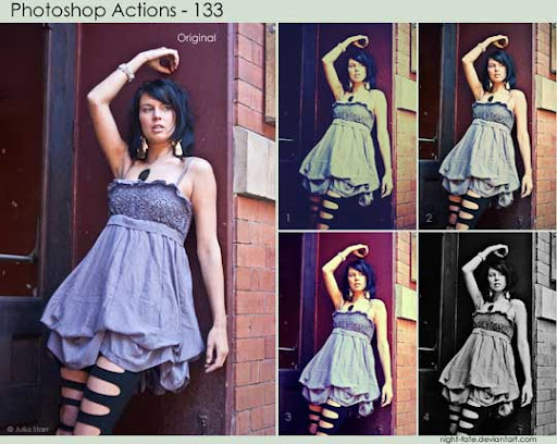 photoshop actions   133 by night fate The Ultimate Collection Of 500+ Useful Free Photoshop Actions