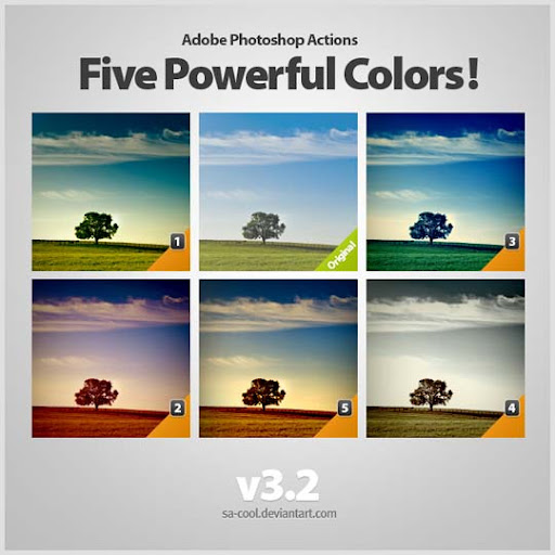 Powerful Colors  3 2 by sa cool The Ultimate Collection Of 500+ Useful Free Photoshop Actions