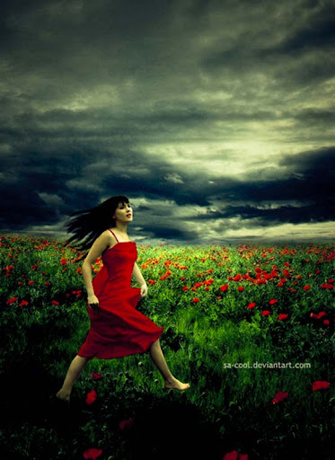 roses 40 Examples of Emotional Female Photomanipulation Art