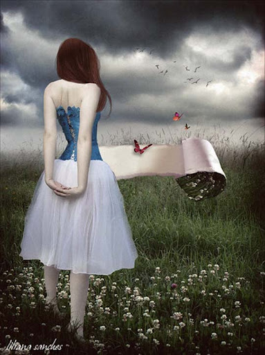 once upon a fairytale by Princess of Shadows 40 Examples of Emotional Female Photomanipulation Art
