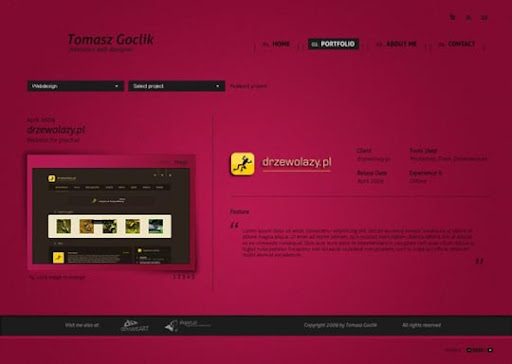 Portfolio+v4+redesign+by+%7Egoclikt 40 Gorgeous Portfolio Web Interface Designs You Must See