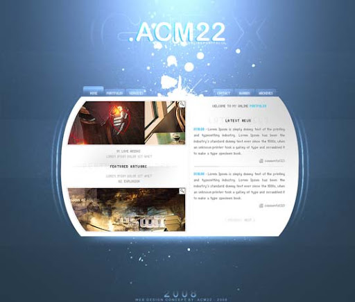 Portfolio v2 0 by ACFA29 40 Gorgeous Portfolio Web Interface Designs You Must See