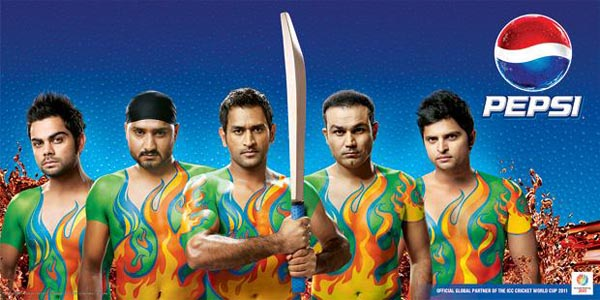 Indian+Cricket+team+2011+Body+Paint+Pepsi+World+Cup+Ad+Wallpaper Adidas and Pepsi Cricket World Cup 2011 Campaign Posters