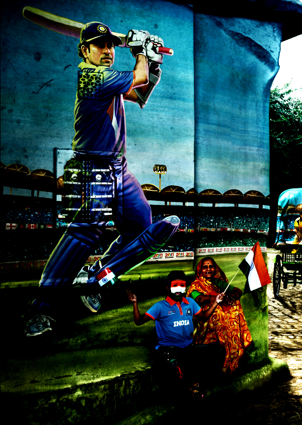 Sachin+India+Cricket+World+Cup Official ICC Cricket Worldcup 2011 Print Advertisements Posters