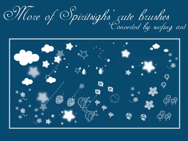 More Spiritsighs   Cute Brushes by surfing ant 1500+ Free GIMP Brushes Packs for Download