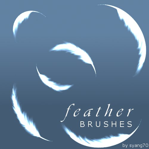 Feather Brushes by syang70 1500+ Free GIMP Brushes Packs for Download