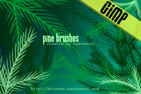 pine gimp brushes by hawksmont 1500+ Free GIMP Brushes Packs for Download
