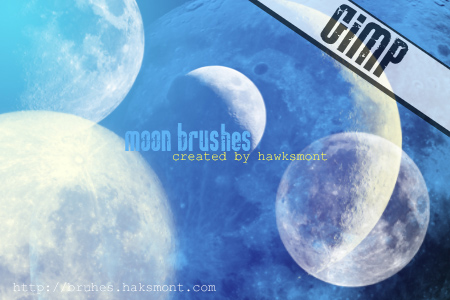 moon gimp brushes by hawksmont 1500+ Free GIMP Brushes Packs for Download
