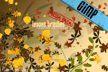 leaves gimp brushes by hawksmont 1500+ Free GIMP Brushes Packs for Download