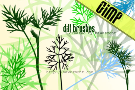 dill gimp brushes by hawksmont 1500+ Free GIMP Brushes Packs for Download