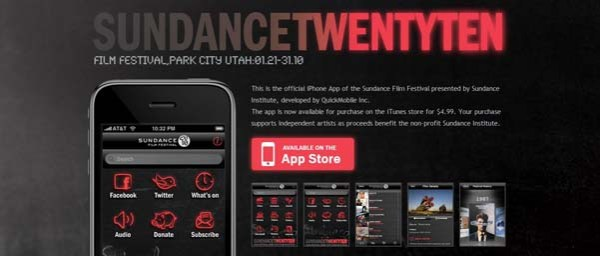 Sundance+ +Official+Sundance+Film+Festival Best Examples of iPhone Apps Websites Designs