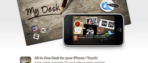 My+Desk+App+for+iPhone Best Examples of iPhone Apps Websites Designs