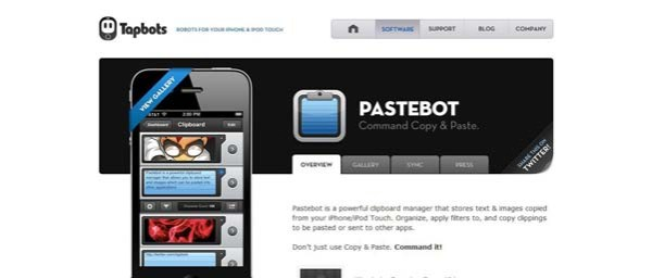 Pastebot+%25E2%2580%2594+Tapbot Best Examples of iPhone Apps Websites Designs