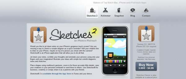 Sketches Best Examples of iPhone Apps Websites Designs