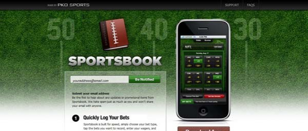 Sportsbook Best Examples of iPhone Apps Websites Designs