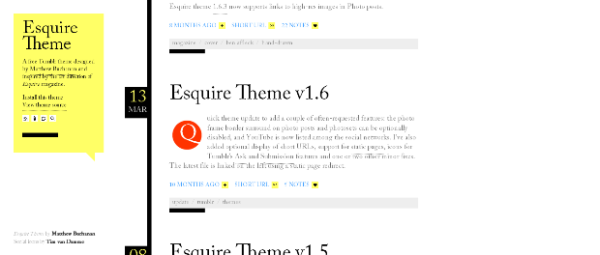 Esquire+Theme The Best Free Tumblr Themes