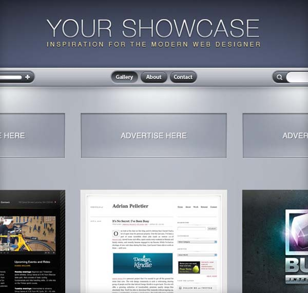 Showcase+Gallery 80+ Free Editable PSD Website Templates