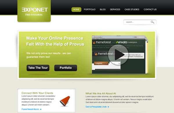 Exponet+Business+Site+Free+PSD+Website 80+ Free Editable PSD Website Templates