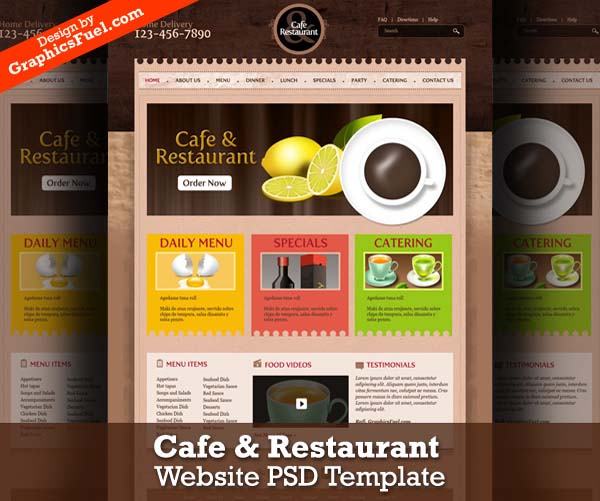 Cafe+%2526+restaurant+website+PSD+template 80+ Free Editable PSD Website Templates