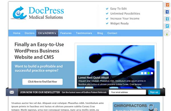 DocPress+Free+PSD+WordPress+Template 80+ Free Editable PSD Website Templates