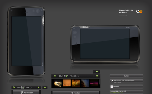 Roundup of Best Free Smart Phones GUI PSD Packs