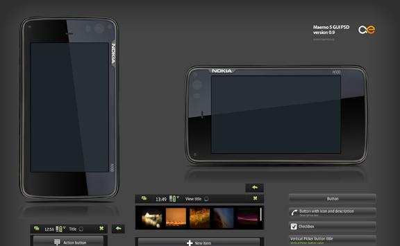 Roundup of Best Free Smart Phones GUI PSD Packs