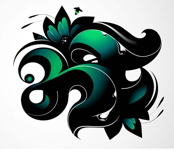 Creating+an+Illustrative+Monogram Fresh Photoshop & Illustrator Tutorials from January 2011