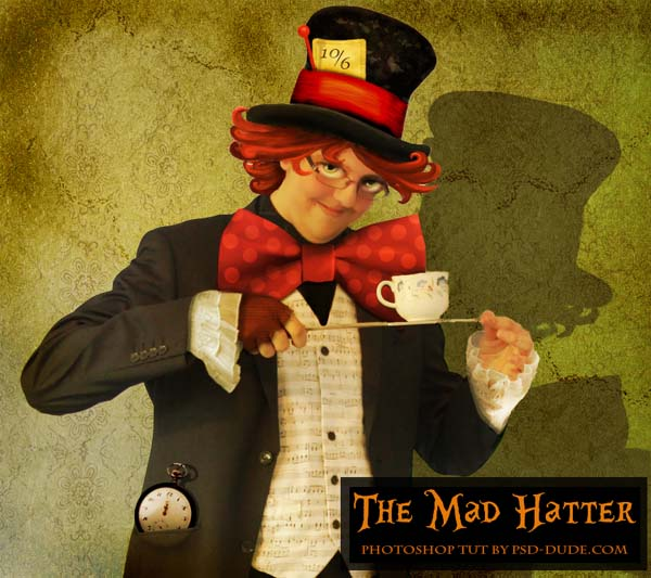 the mad hatter from alice in wonderland Fresh Photoshop & Illustrator Tutorials from January 2011