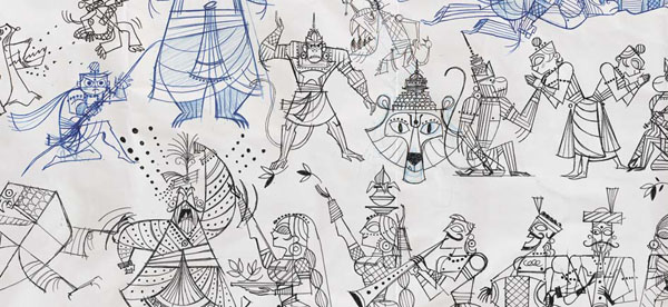 Ramayana+%25288%2529 Gorgeous Illustrations of Hindu Gods by Sanjay Patel of Pixar Studios