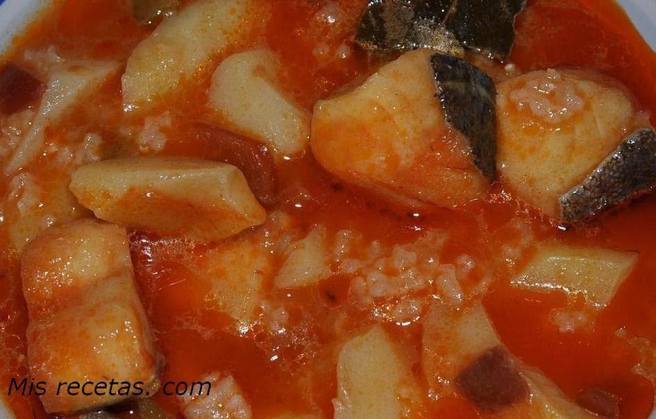 Mis recetas com patatas con arroz y bacalao - Bacalao con garbanzos y patatas ...