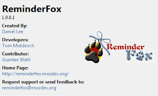 ReminderFox - Remind you when browsing the internet