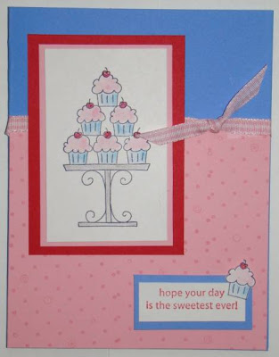 crazy for cupcakes birthday stampin up