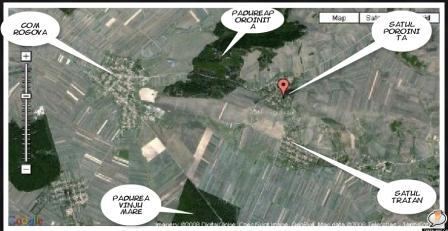 Pozitia satului Poroinita din comuna Rogova