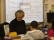 A avó da Margarida na sala de aula