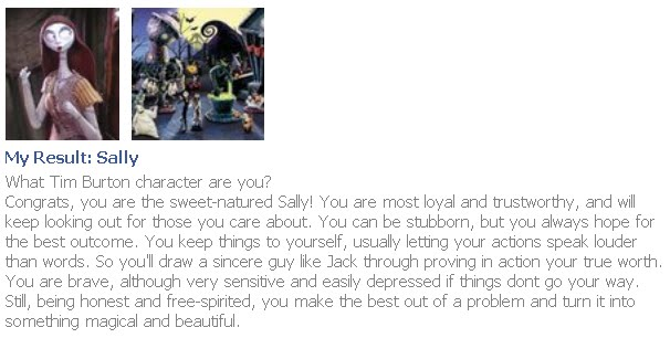 Which Tim Burton Character are you?