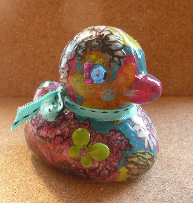 Whoopidooings - Carmen Wing - Altered Rubber Duck - Art Journal inspired