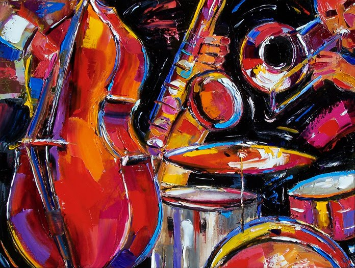 Debra Hurd Original Paintings AND Jazz Art: Abstract Jazz ...