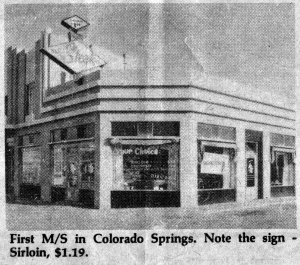 Exterior Of The First Mr Steak Restaurant In Colorado Springs Co 1962