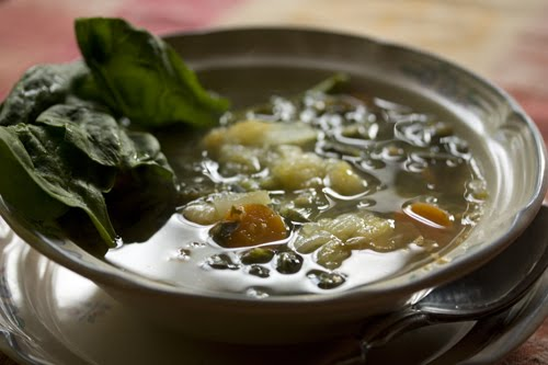 SrishtiFood: Green Soup with Ginger