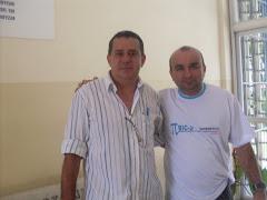 Prof. Amauri (Coord.do curso de Matemática da UFAL) e Prof. Djalma (Tutor presencial)